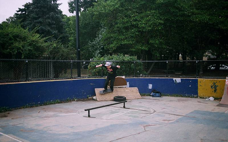 DIY skate spot, Jamaica Plains, Boston. Credit: Thom Callan-Riley