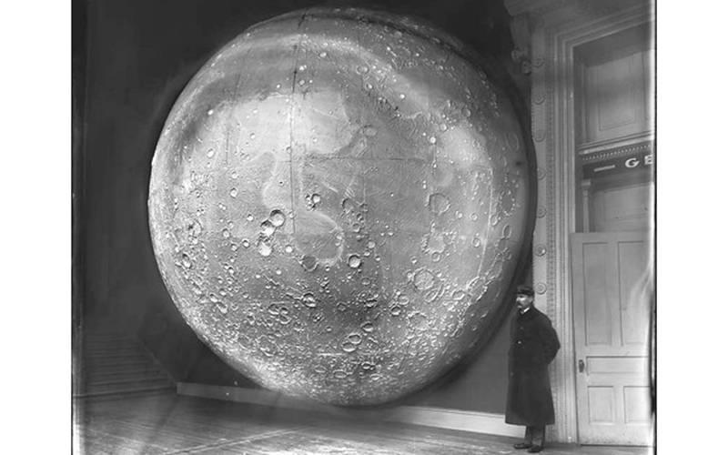 Moon Model Prepared by Johann Friedrich Julius Schmidt, Germany, in 1898. Public domain offered by the Chicago Field Museum.