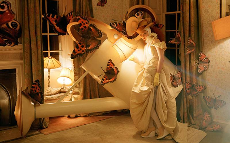 'Lily Cole and the Giant Watering Can', by Tim Walker, 2004.
