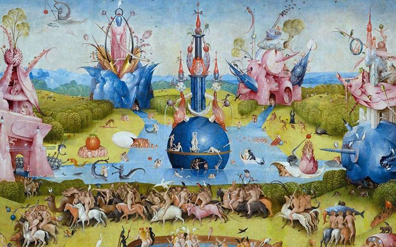 The Garden of Earthly Delights. Hieronymus Bosch, 1510.