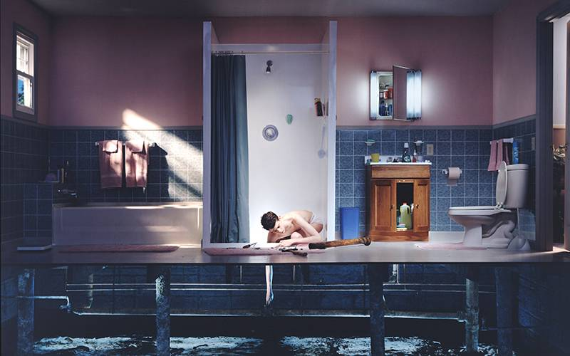 Boy with hand in drain (2001), Gregory Crewdson; colour coupler photographic print.