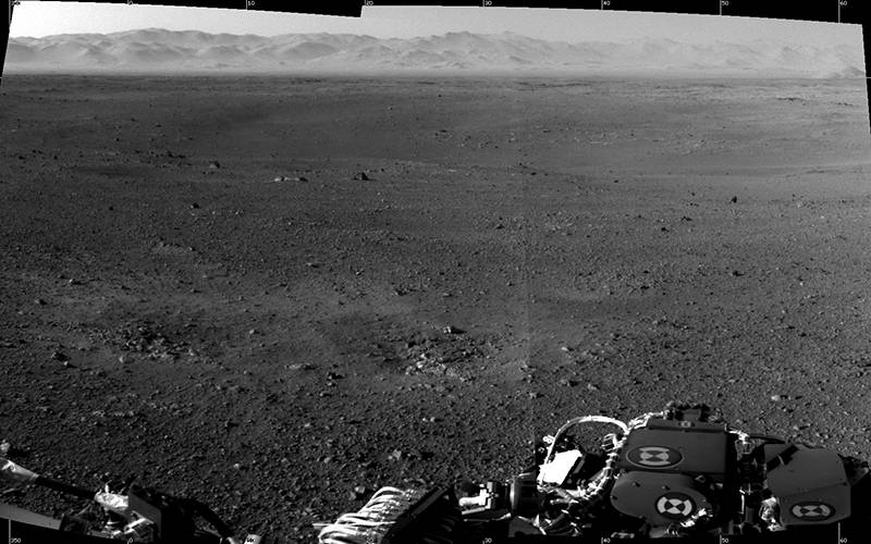 One of the first full-resolution images taken by the Mars Curiosity rover