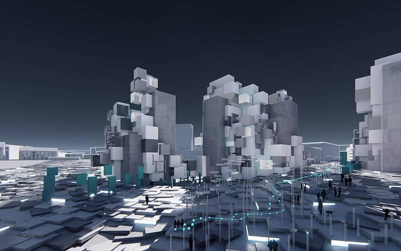 'Visual Dislocation', by Urban Design Research Cluster 14. Piyush Prajapati, Xi Wang, Lingzhao Wei, Han Wu