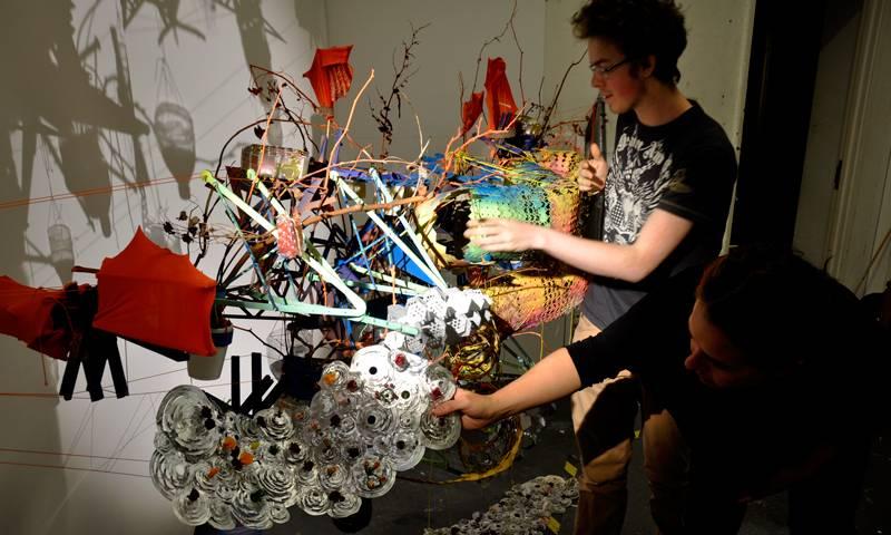 Students display their work at a Bartlett Summer School