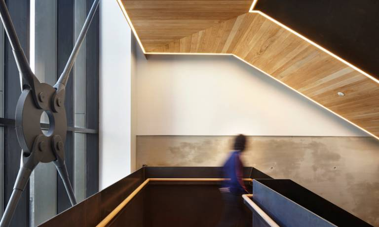 The new staircase at 22 Gordon Street