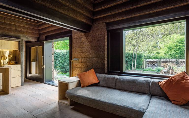 Living space within Cork House