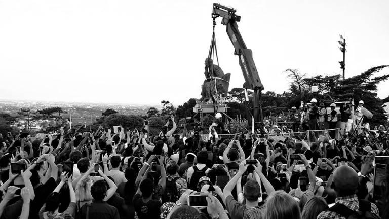 Statue Removal Desmond Bowles