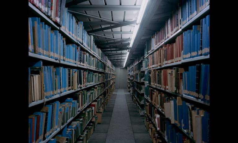 Archive book stacks – Hrair Sarkissian's series 'istory' (2011)