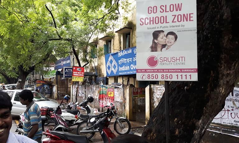 Street scene in Chenai, India