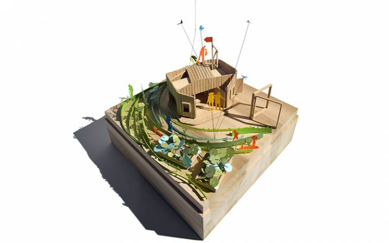 Harlesden Town Garden Clubhouse model, by Sabine Storp and Patrick Weber