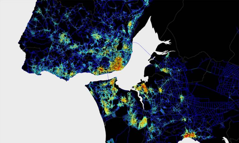Digital map of Lisbon, for the 11th International Space Syntax Symposium