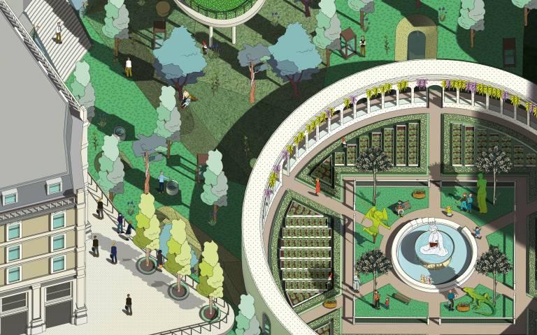 Siqi (Emily) Chen, Studio 2, Landscape Architecture MLA Year 1, 'Hortus Conclusus:  The Garden of Symbolism'.