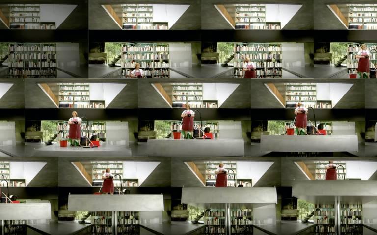 Image: Stills from Koolhaas' Houselife, Ila Bêka and Louise Lemoîne, 2008