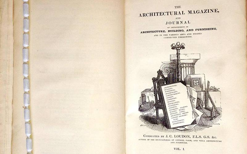 Title page of John Loudon's Architectural Magazine, vol. 1, 1834. Private collection