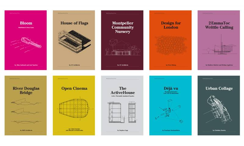 A selection of covers for the Bartlett Design Research Folios