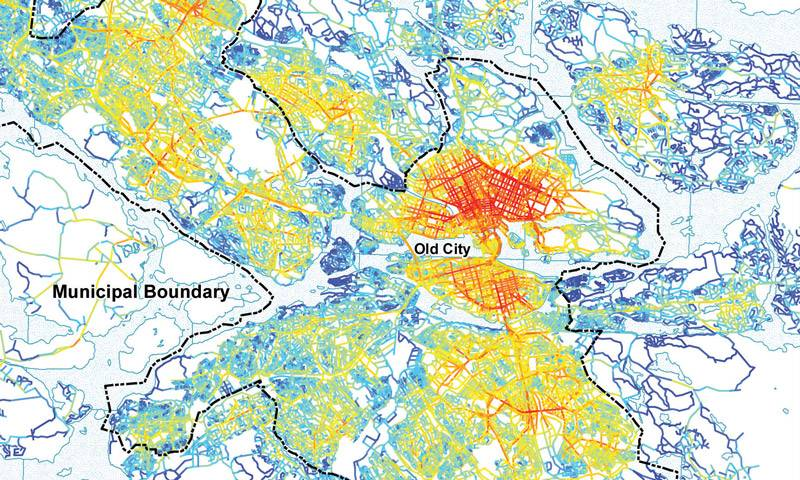Map of Stockholm, Space Syntax Seminar