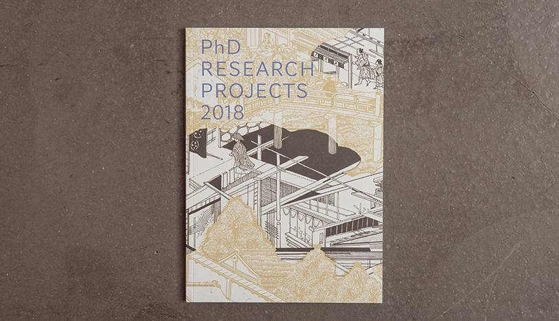 PhD Research Projects 2018 book on a concrete floor