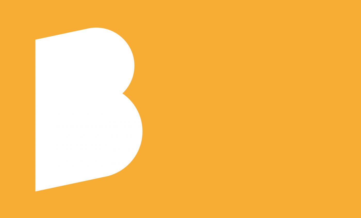 Bartlett School of Architecture white logo on orange background.