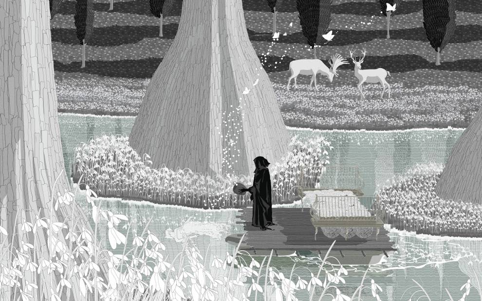 'The Garden of Heavenly Enlightenment' by Xiaoliang Deng, PG10 graduate, 2020