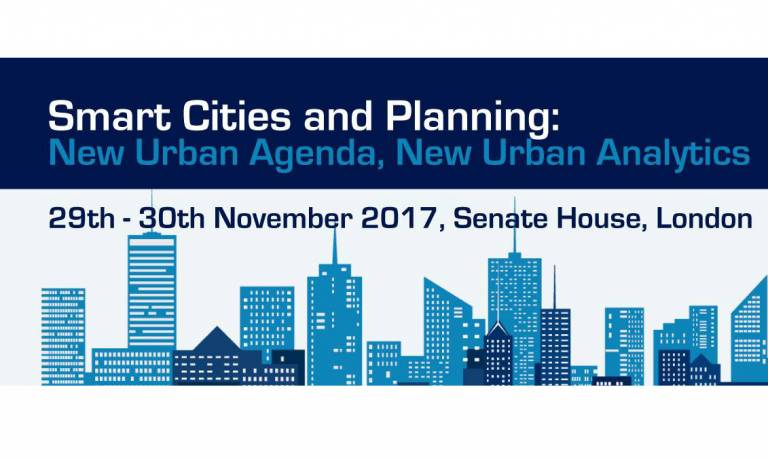Conference: Smart Cities and Planning: New Urban Agenda, New Urban Analytics