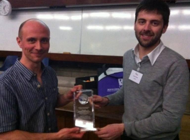 GISRUK 2013 CASA Prize Winner