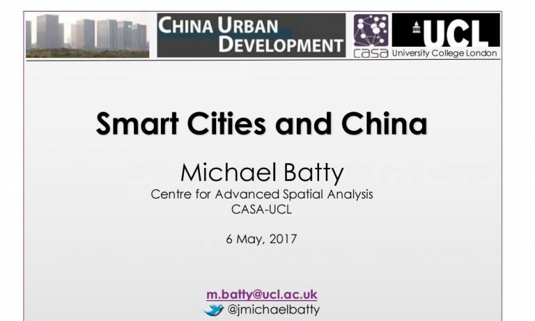 Smart Cities and China
