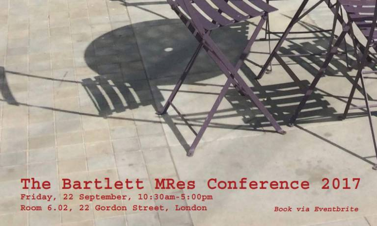 The Bartlett MRes Conference 2017