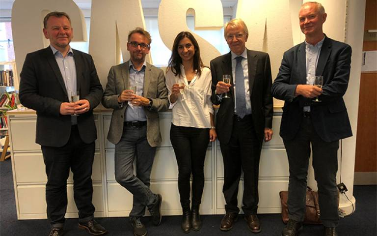 Flora Roumpani with supervisors and examiners