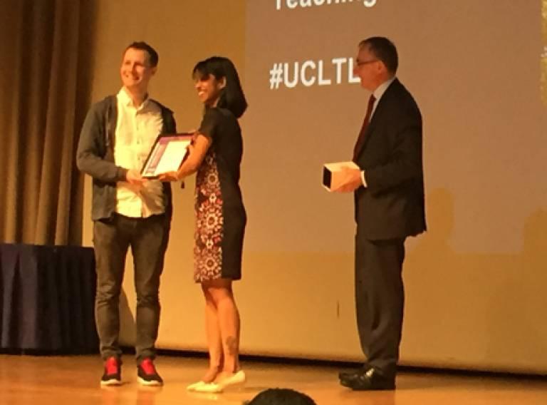 Adam Dennett wins 2016 Student Choice Award for Outstanding Teaching