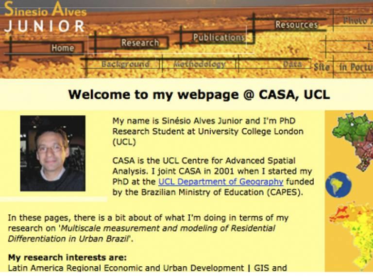 Junior's CASA webpage