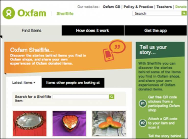 Oxfam Shelflife
