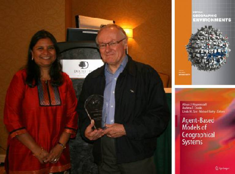 Mike Batty receives the UCGIS Research Award for 2012