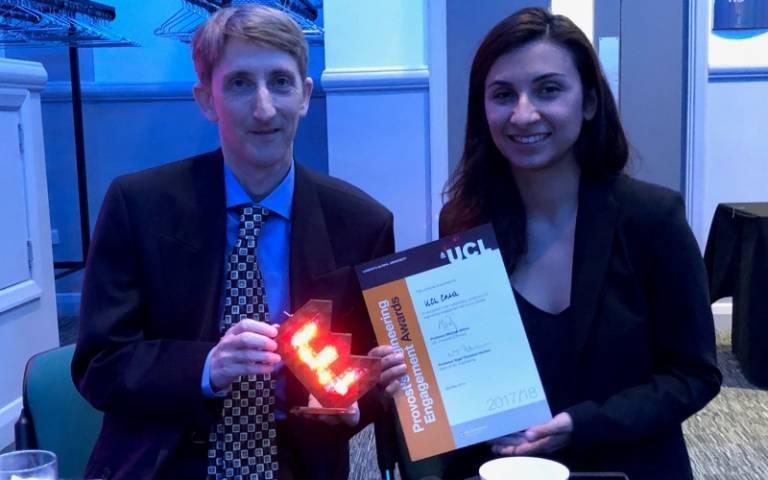 Richard Milton and Flora Roumpani at Drones Award
