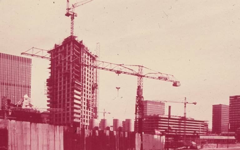 The Barbican Estate under construction