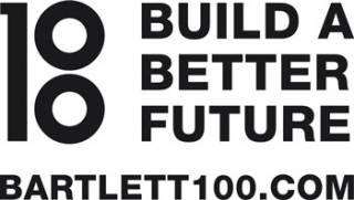Bartlett 100 logo alongside the words 'Building a better future' and 'bartlett100.com'