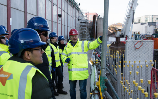 UCL Construction and Property Society students on a site visit