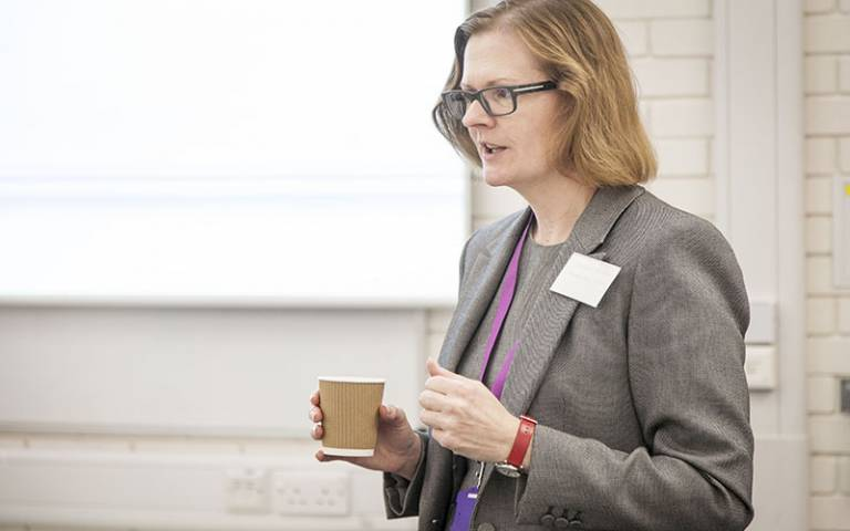 Jacqui Glass gives lecture