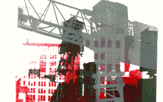 Collage of a construction site
