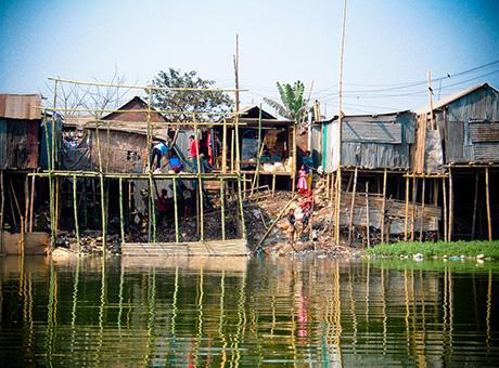 Stilt Houses, Dhaka, Bangladesh. Photo taken on DPU 'Adapting Cities to Climate Change' research