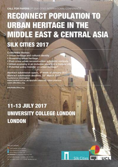 silk cities conference poster