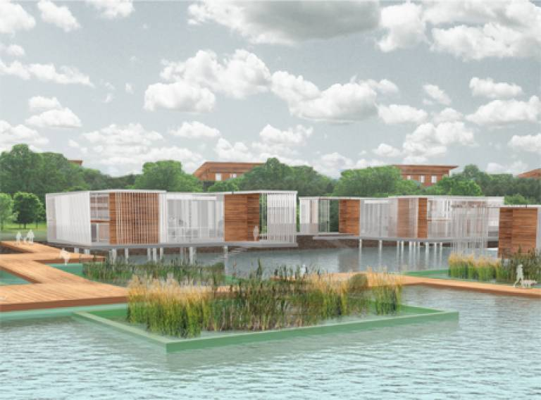 The Sensory Docks - rendered image for the Royal Docks Competition 2014