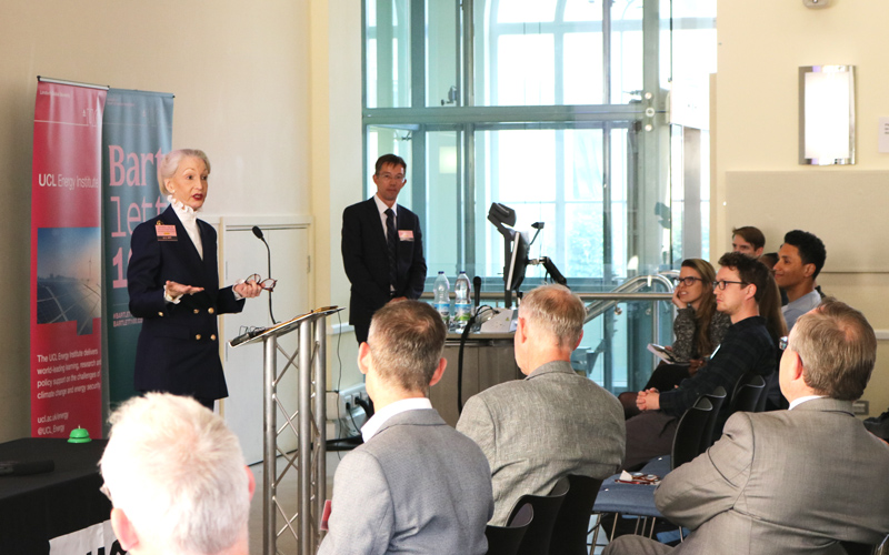 Lady Judge and Professor Strachan at the Energy 10 event on 21 May