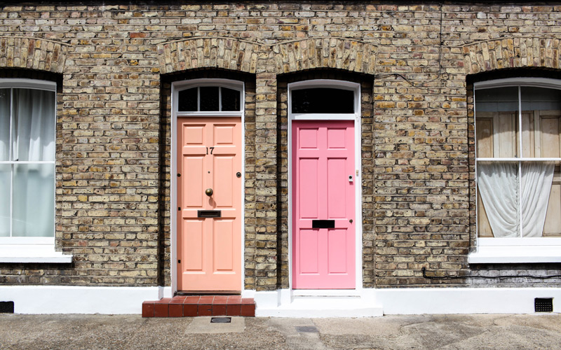 Front doors in London street