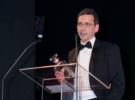 Tadj Oreszczyn collecting enterprise award 2010