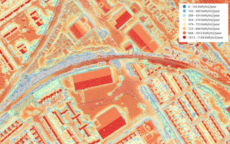 Solar map London - Philip Stedman