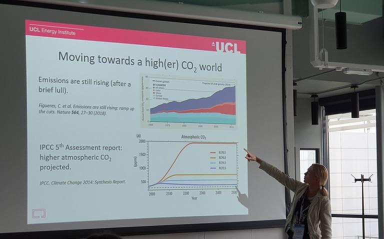 Gesche Huebner presenting at ICEP 2019