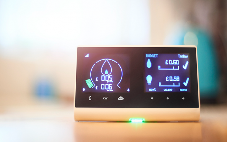 Photo shows a smart meter