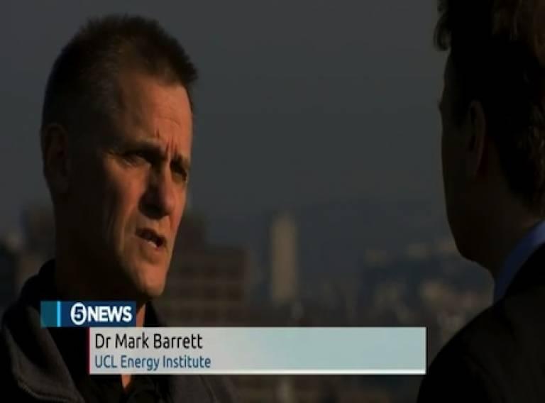 Dr Mark Barrett on Five News