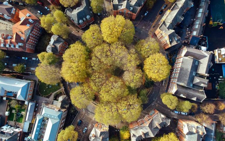 Aerial view of Arnold Circus, London - Photo by Robert Bye on Unsplash