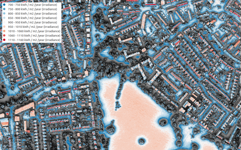 Image of the London Solar Opportunity Map